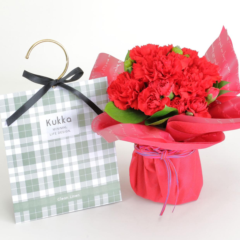 そのまま飾れる母の日花束とサシェ